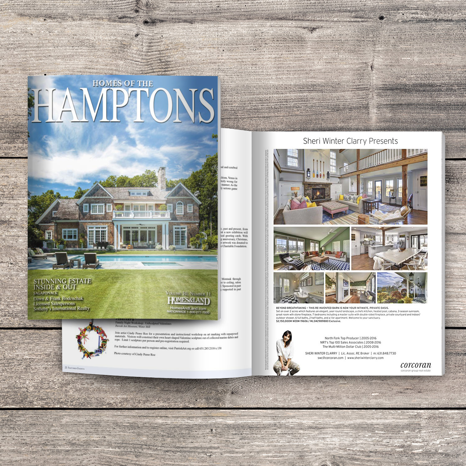 Featured in Homes of the Hamptons Magazine