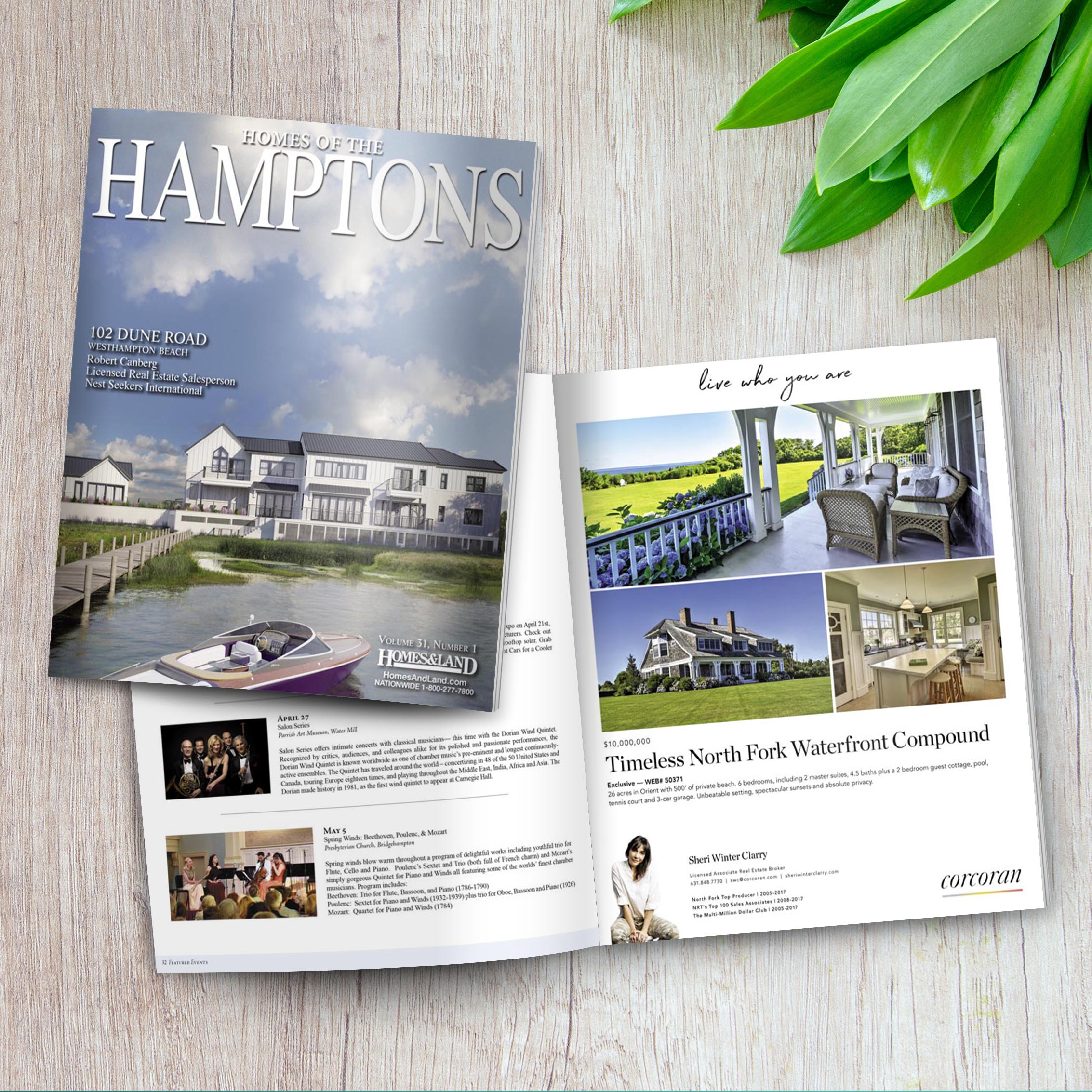 Featured in the Homes of the Hamptons Magazine